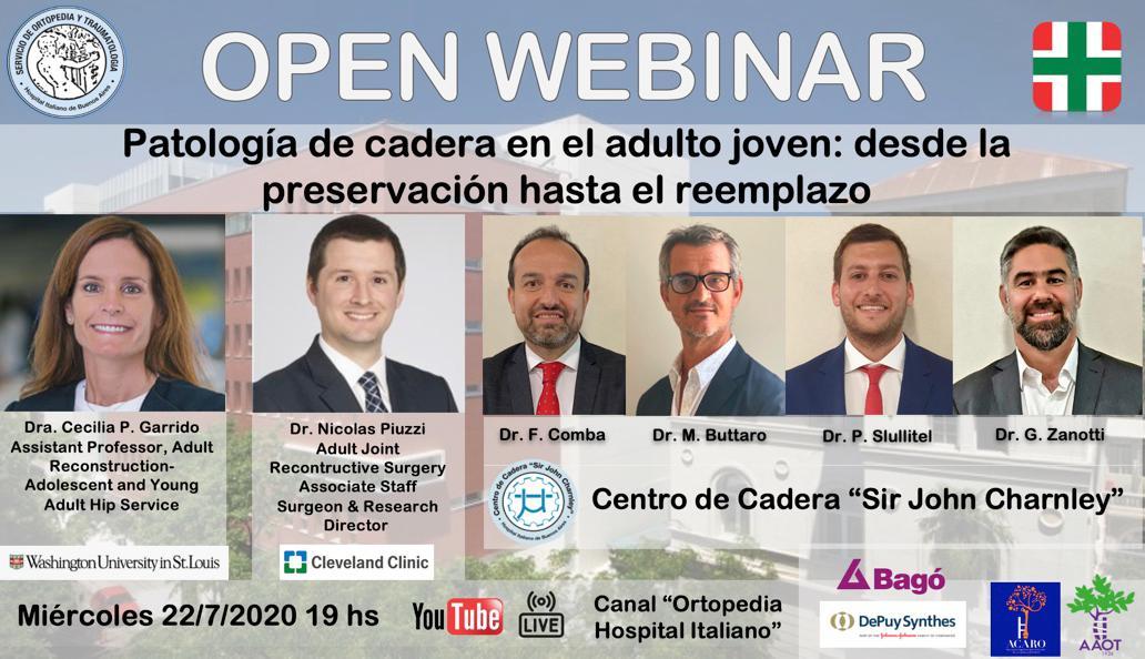 Open Webinar 'Patología de cadera en el adulto joven: desde la preservación hasta el reemplazo'