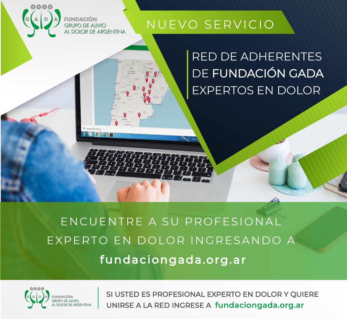 Red de Adherentes de Fundación GADA expertos en Dolor