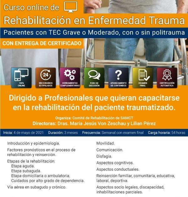 Curso online de Rehabilitación en Enfermedad Trauma